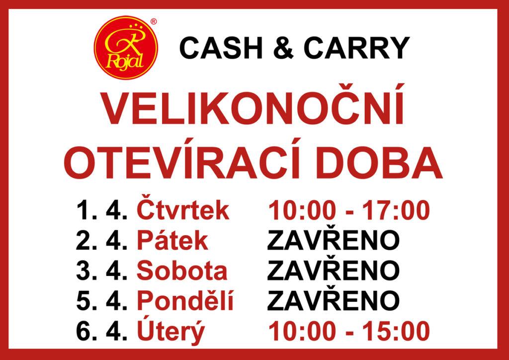 Velikonoční otevírací doba Cash & Carry Rojal Uh. Brod